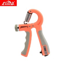 CIMA Adjustable Hand Grip Strengthener Counter Orange Wrist Gym Muscle Fitness Finger Training Gripper Hand Exerciser 10-40KG