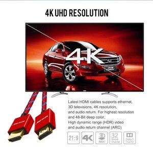 Image 5 - VOXLINK HDMI Kabel 3FT/6FT/10FT Ultra High Speed Stecker auf HDMI Kabel mit Ethernet 1080P HDMI 1,4 4K 3D für PS3 BLURAY XBOX