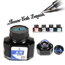 50 мл каллиграфия написание картина с фонтаном ручка цветные чернила для перьевых Dip ручки для письма рисунок граффити не углеродный школьные принадлежности