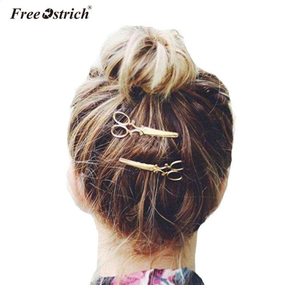 Free Ostrich 1PC Hair Clip Women Headwear Casual Scissors Pattern Hair Clip Hair Barrettes Apparel Accessories Headpiece B0640