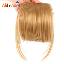 Alileader Short Clip In Hair Bangs Heat Resistant Synthetic Hair Women Natural Short Fake Hair Bangs Women Hair Pieces(China)
