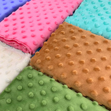 1Pcs 45x45cm 30Colors Super Soft Minky Dot Fabric Handwork Sewing Blanket Toys Material Antipilling Plush Fabric Eco-friendly