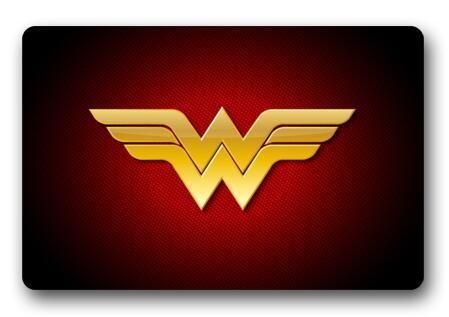 Custom Wonder Woman Logo Doormat Pad Wonder Woman Mats Cartoon Carpets DC Comics Rugs Bathroom Christmas Bedroom Decor #D-173#