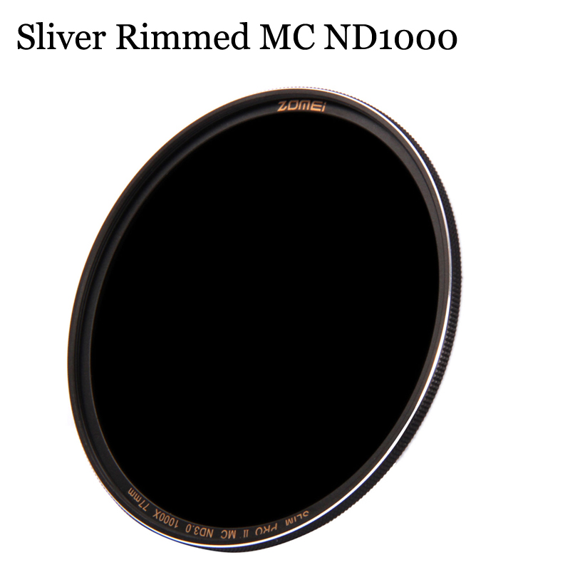 Zomei ND1000 ND 3.0 Filter 52mm 58mm 67mm 72mm 77mm 82mm Pro Optical Glass Neutral Density for Canon Nikon Sony Pentax Lens цена