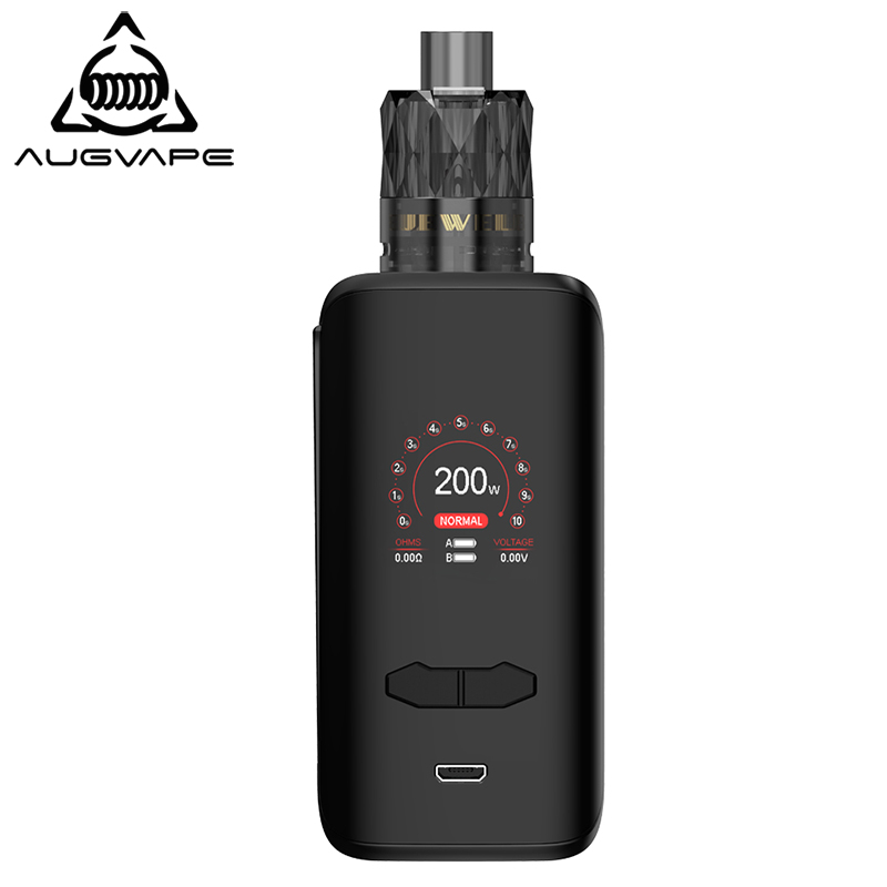 Augvape VX200 Box Mod Kit 200w 1.3 Inch Color Display Dual 18650 Battery Temperature Control Electronic Cigarette Kits For