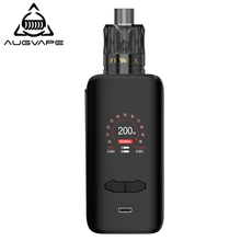 Augvape VX200 Box Mod Kit 200w 1.3 Inch Color Display Dual 18650 Battery Temperature Control Electronic Cigarette Kits For ijoy asolo 200w temperature control box mod color random