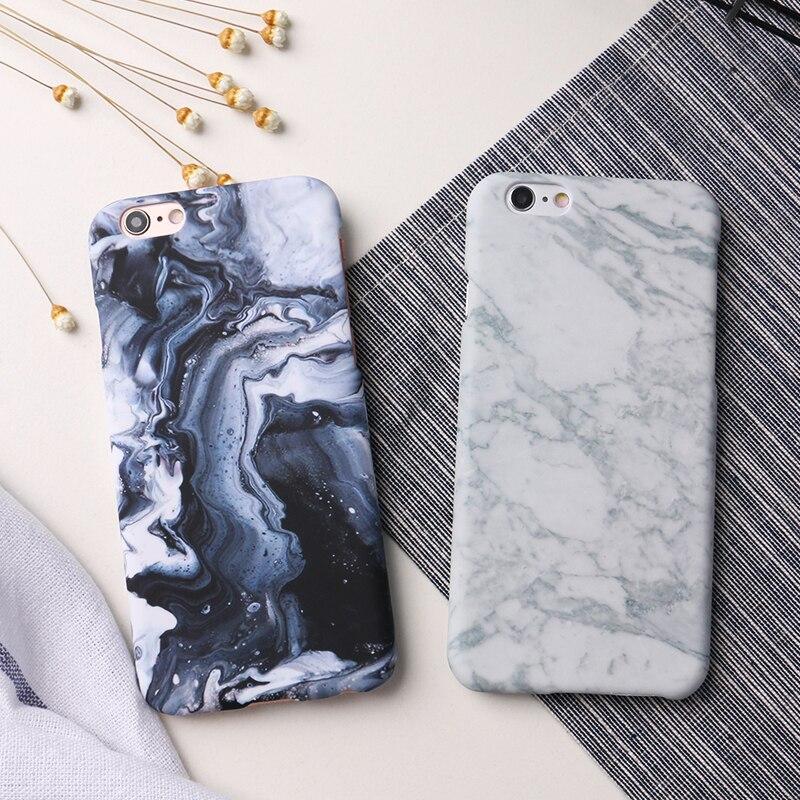 LACK Mode Lyxig marmorsten telefonfodral för iphone 6 fodral för - Reservdelar och tillbehör för mobiltelefoner - Foto 6