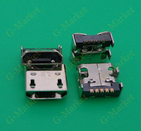 10-100pcs Micro USB Charging Port Connector for LG Optimus G E971 E973 E975 E970 LS970 F6 D500 D505 LG_E960 Chargin Connector