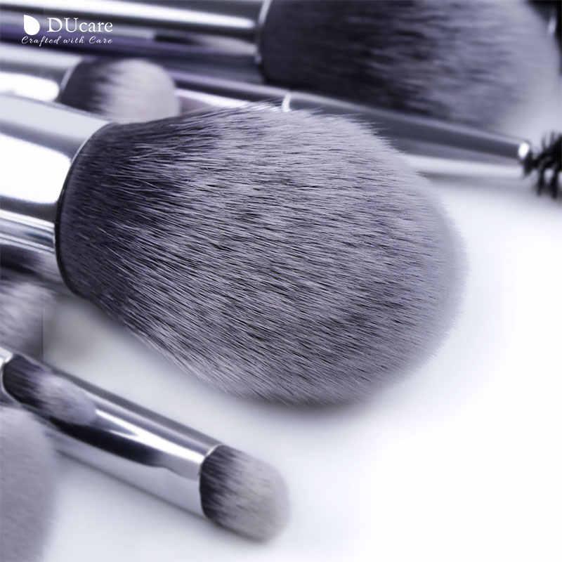DUcare fırçalar makyaj 9/17 adet fırça seti göz farı toz kaş fondöten fırça sentetik saç makyaj kozmetik araçları