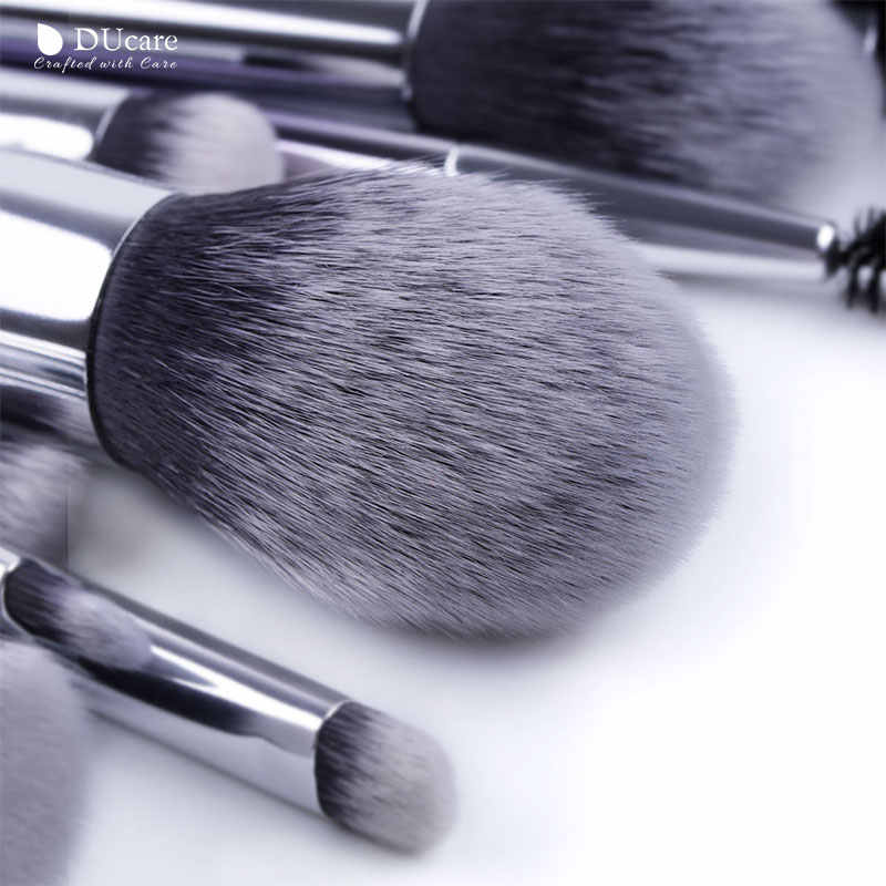 DUcare pinceaux pour maquillage 9/17 PCS ensemble de pinceaux fard à paupières poudre sourcil fond de teint brosse cheveux synthétiques maquillage outils cosmétiques