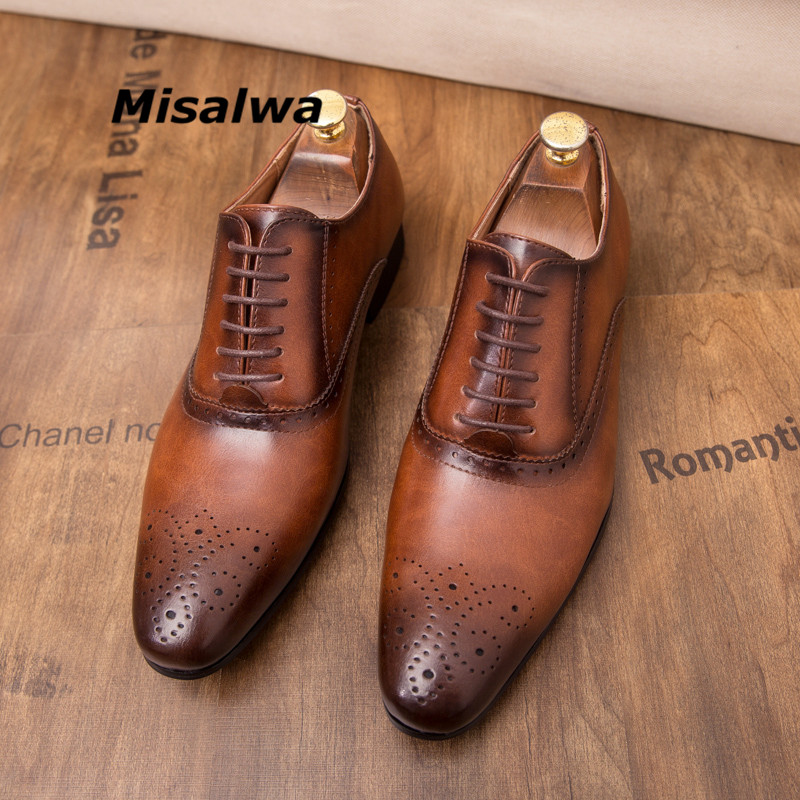 Retro British Men/'s Leather Carving Dress Shoes Oxfords Italian Formal Work Shoe