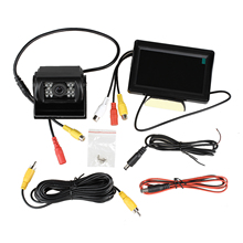 Promotion Kit CAR Rear View 4 3 TFT LCD MONITOR color reversing camera mirror and night