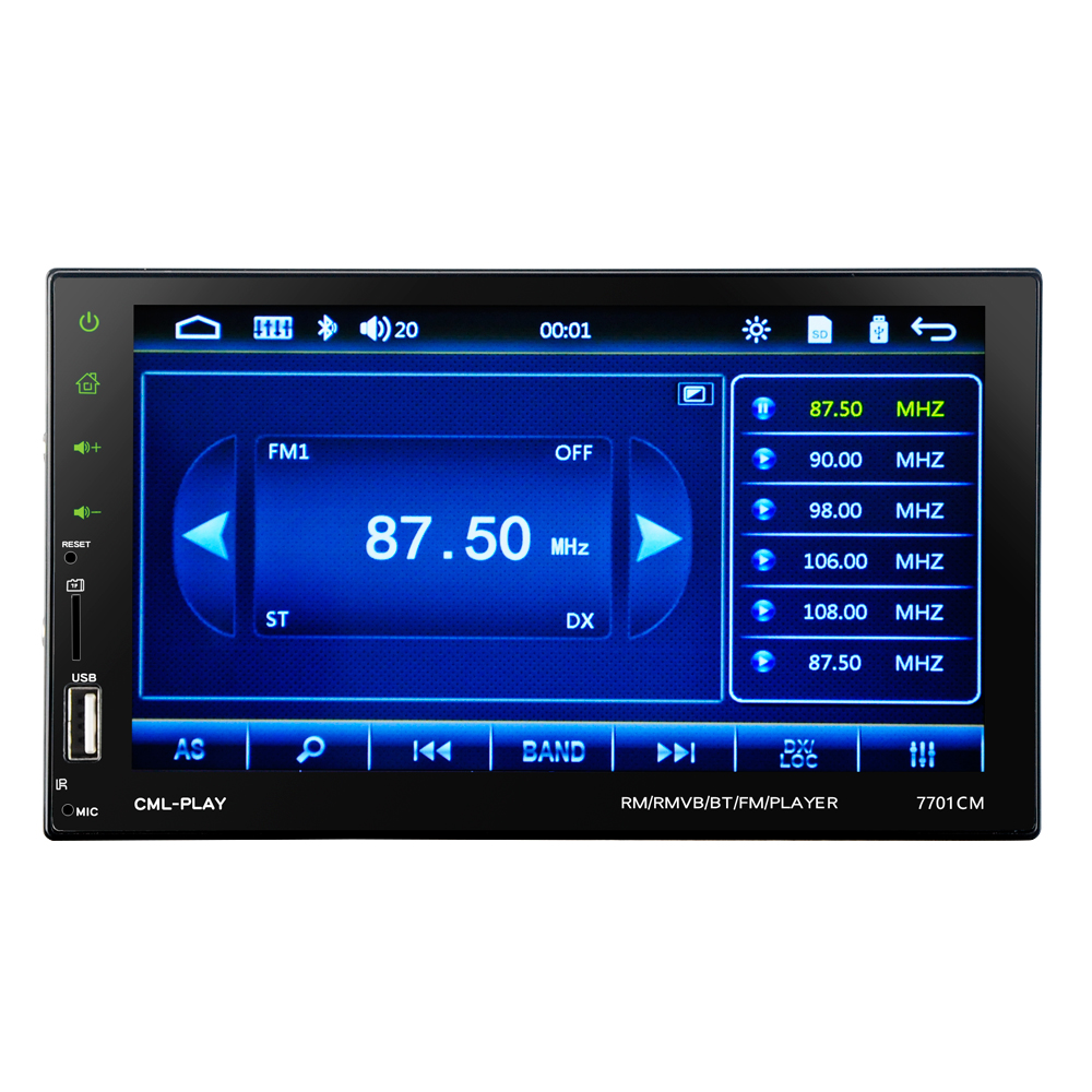 HEVXM 7701 2 Din Touch Screen Car MP5 Player Universal Auto Radio ...