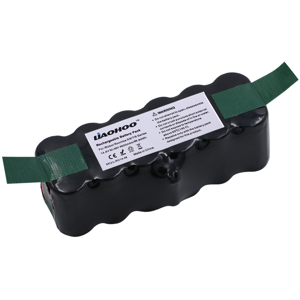 все цены на LiaoHOO 14.4V 4600mAh NiMH Replacement Battery for iRobot Roomba 500 600 700 800 Series iRobot roomba 531 620 650 770 980