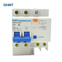 цена на CHINT Air Switch Circuit Breaker DZ47LE-63 2P C40 32A 230V DIN Rail Mounted 2P Earth Leakage Circuit Breaker