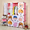 12 cubes DIY Children's simple wardrobe kids closet organizer childrens wardrobe