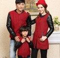 Família / amantes de lã jaquetas / casacos roupas para pai mãe filho / filha crianças outono e inverno de lã e mistura CHH88