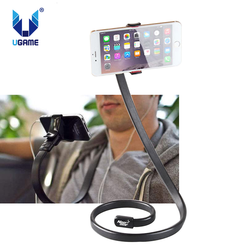 Lazy Hanging Neck Phone Stands Desk Holder Stand Mount Popular 360 Rotating Flexible Long Arm Cell Phone Holder Stand