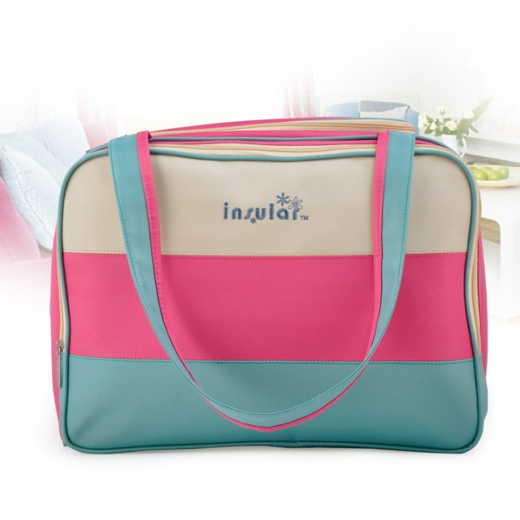 High Quality Colorful stripe diaper bag multifunctional waterproof baby care nappy mummy bag mother Shoulder Tote stroller bags