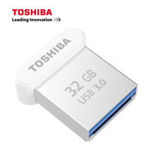 Originele TOSHIBA USB Flash Drive 32GB 64GB 128GB USB3.0 Pen Drive Metalen Pendrive Mini Vinger memoria usb stok 120 MB/S Geheugen Di(China)