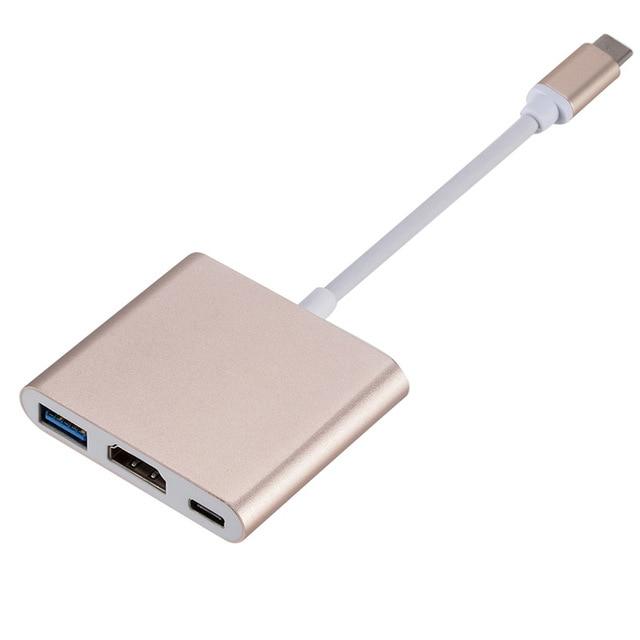Uosible Thunderbolt 3 Adattatore USB Tipo C Hub a HDMI 4K supporto Samsung Dex modalità USB-C Doce con PD per MacBook Pro/Air 2019 5