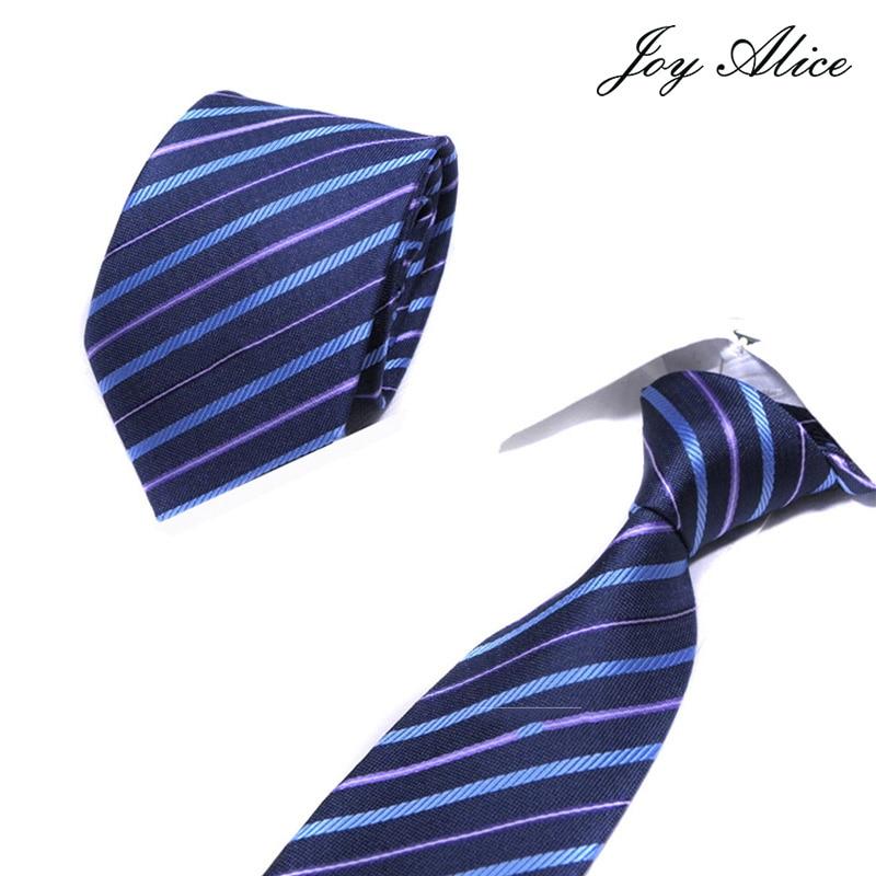 Mens Ties Plain Striped  Neck Ties 8cm Silk Gravatas Ties For Men Wedding Suit Navy Blue Orange Red Purple Corbatas Hombre