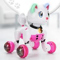 New Pink Black Smart Kids Toy Dog Cat Infarared Puzzle Voice Control Intelligent Machine Electric Cute