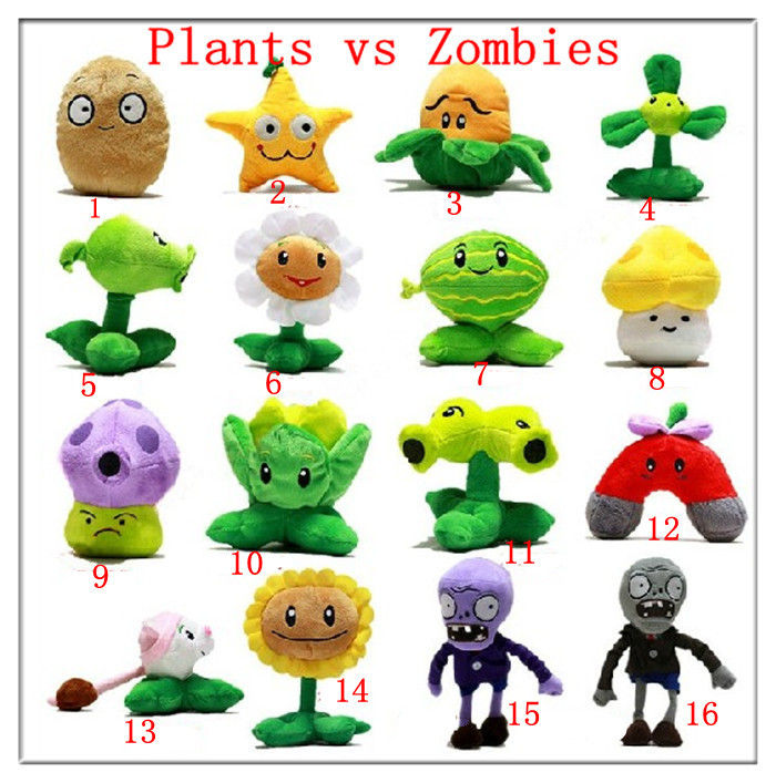 2013 animal game plants vs zombies plush toys doll pvz for Animal decoration games