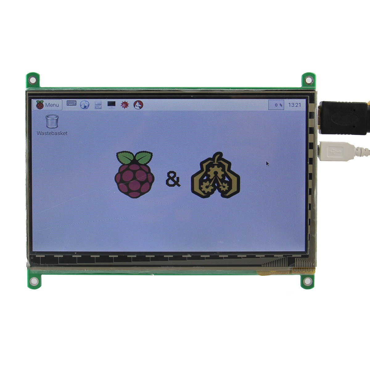 1PC New Arrival 7 Inch HDMI Capacitive Touch Screen TFT Display LCD For Raspberry Pi B/B+/Pi2 Demo Board geeetech computer game kit for kids stem and coding training toy based on raspberry pi demo board