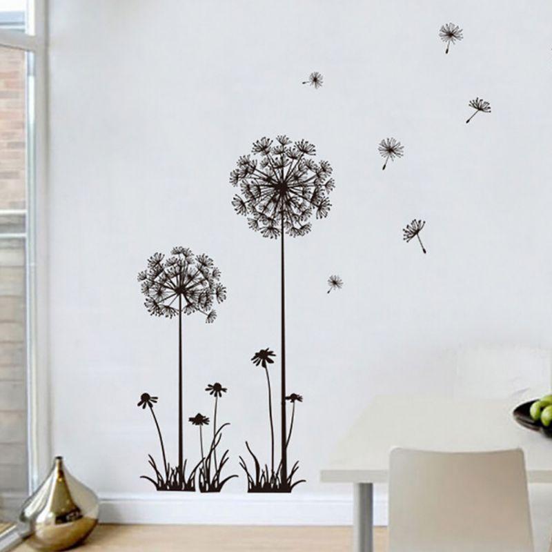 Popular dandelion wall decal buy cheap dandelion wall for Dandelion mural
