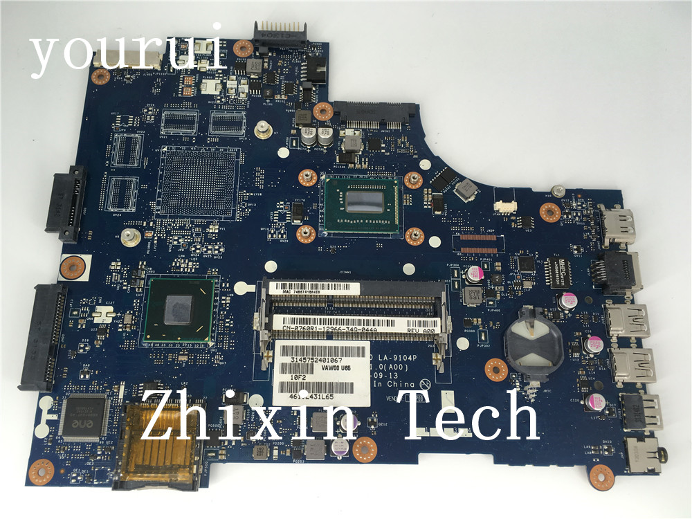 yourui CN-0760R1 0760R1 0760R1 For Dell Inspiron 3521 5521 Laptop motherboard with i5-3337u CPU VAW00 LA-9104P Tested working