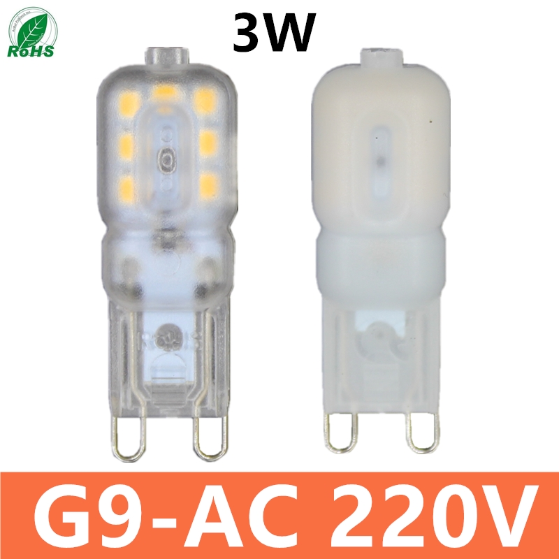 2019 G9  Led Bulb  3W AC 220V 230V G9 Lamp Led Bulb SMD 2835 LEDlamp  G9 Light Replace 25W Halogen Lamp Light Free Shipping