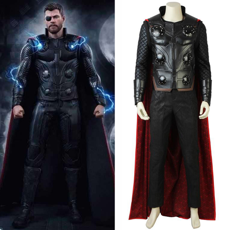 The Avengers Infinity War Cosplay Thor Cosplay Costume Jacket Pants Props Superhero Adult Men Halloween Accessories Custom Made
