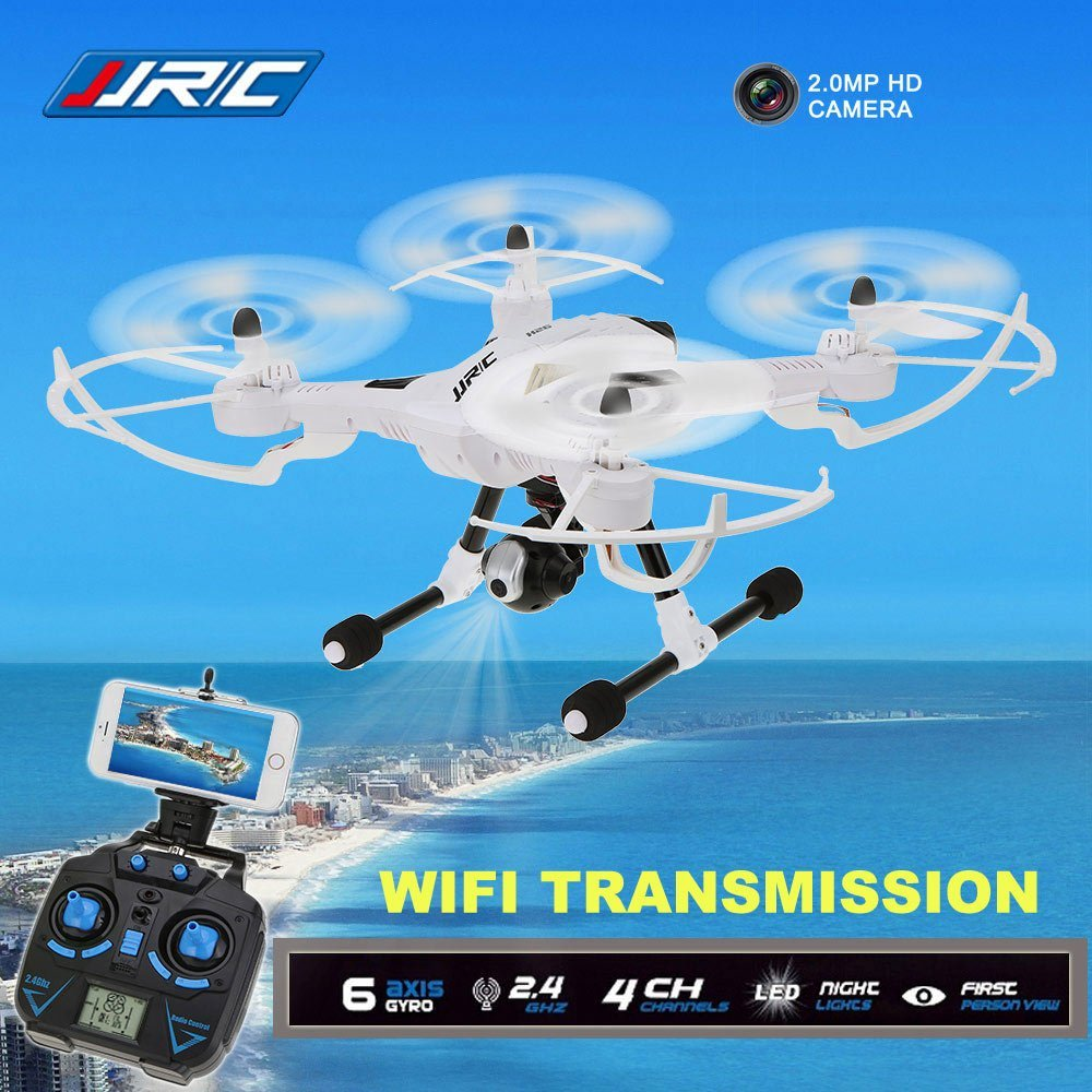 JJRC H26W WIFI FPV With 720P Camera Headless Mode One Key Return Height Hold RC Quadcopter RTF with more battery original jjrc h12c drone 6 axis 4ch headless mode one key return rc quadcopter with 5mp camera in stock