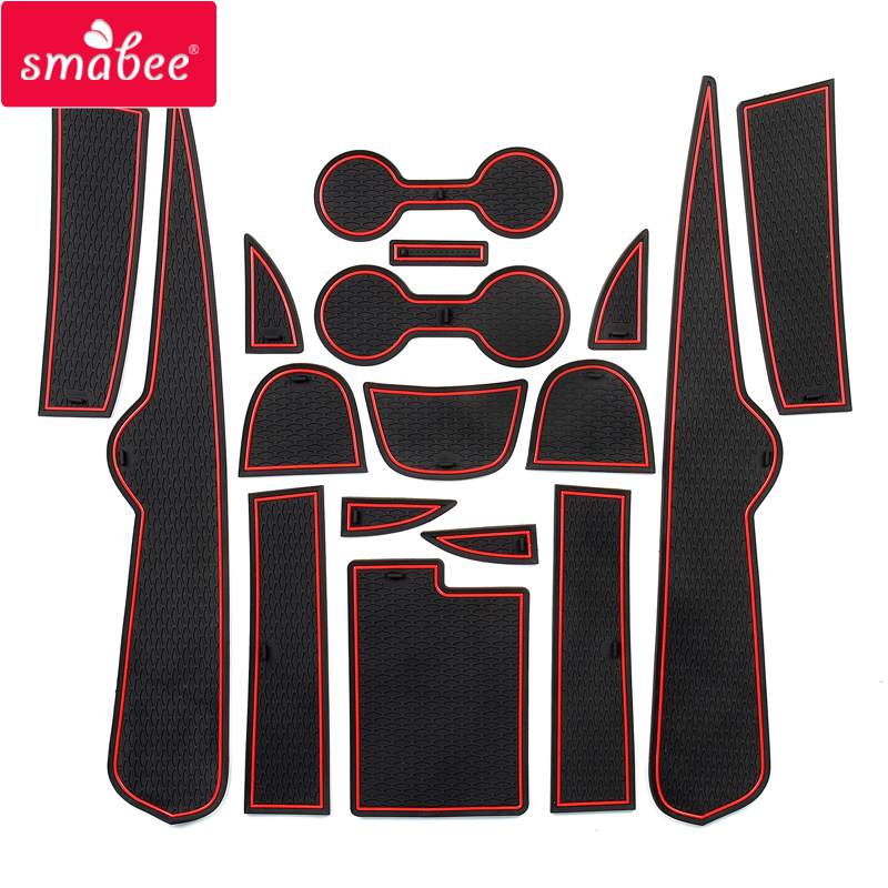 Smabee Gate slot pad For for Chevrolet Malibu 2016   2019 9th Gen MK9 Anti Slip Mat Interior Cup Holders Non slip mats 17pcs|  - title=
