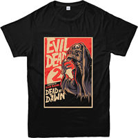 Evil Dead 2 T-Shirt, Evil Dead 2 Skeleton T Shirt, Horror Movie Inspired TOP Short Sleeve Fashion Summer Printing Casual