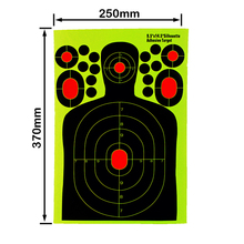 Shooting Target with High Strength Adhesive 10 Pcs Set