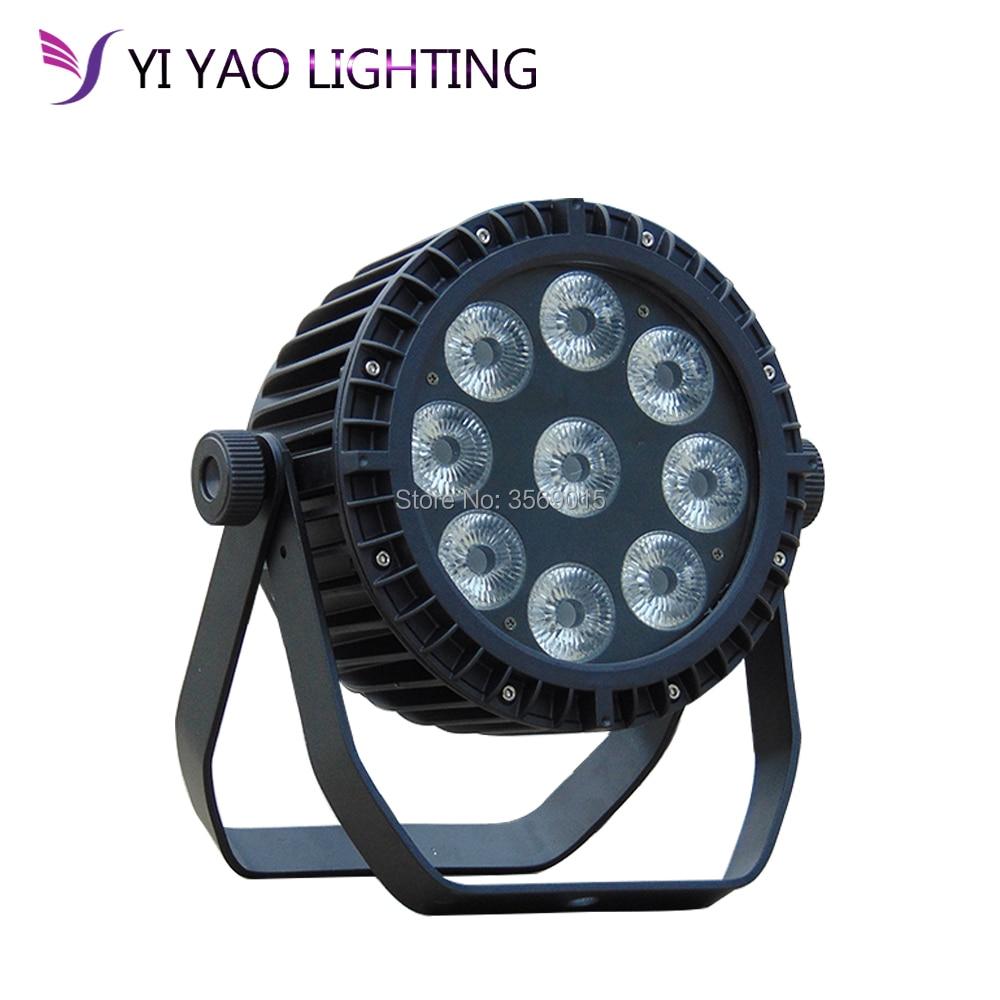 RGBWA UV 6IN1 9x18W Waterproof Battery Led Par Light