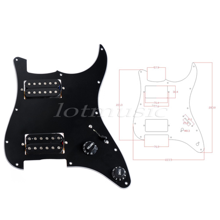 Electric Guitar Prewired Loaded Pickguard Scratch Plate Guitar Parts Replacement HH Humbucker 3Ply White Black 10pcs guitar pickguard white 3ply pvc scratch plate for electric guitar replacement