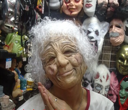 Realistic Old Women Mother Big Mom Figure mask latex full Silicone Halloween - Fashion Party Supplies store