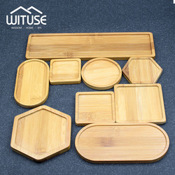 6pcs Flower Pots Nursery Planter Bamboo Tray Anti-Fade 12 Style Round Square Minimalism Gardening Supply Simple Rural Style