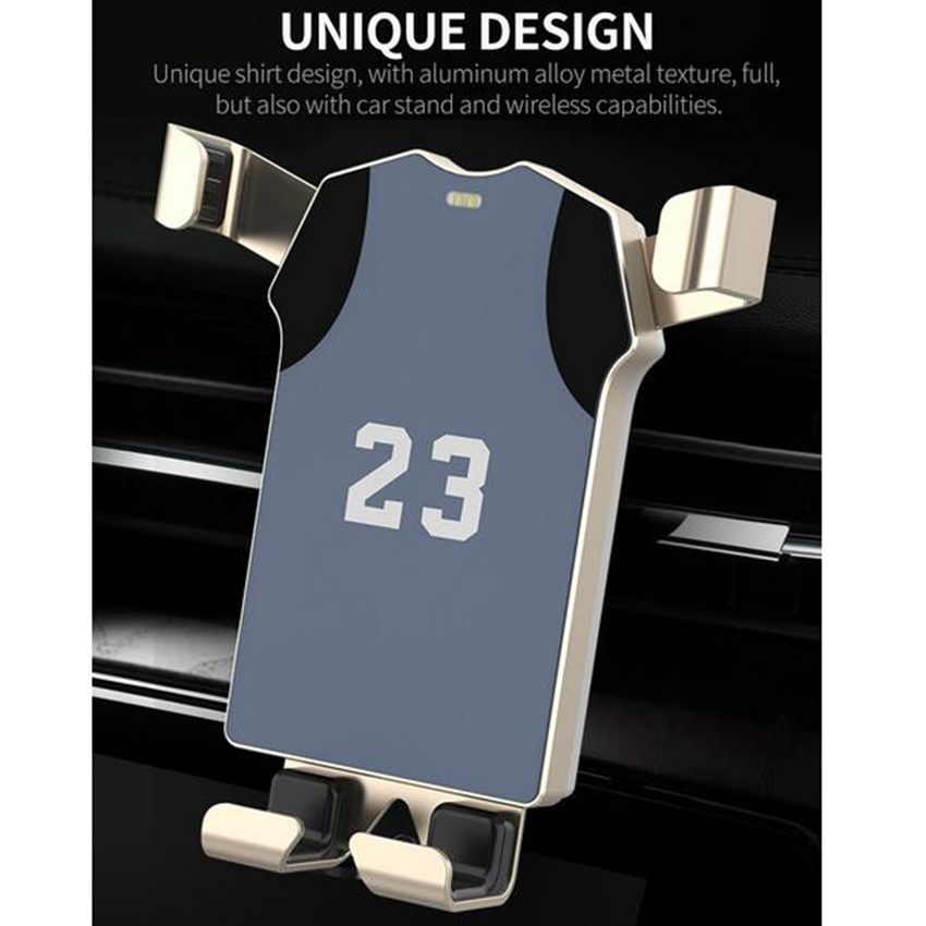 Car Qi Wireless Charger Jerseys Design For Iphone X 10 8 Plus 5V/2A Fast Charging 360 Rotation Car Holder For Samsung S8 S9Car Qi Wireless Charger Jerseys Design For Iphone X 10 8 Plus 5V/2A Fast Charging 360 Rotation Car Holder For Samsung S8 S9