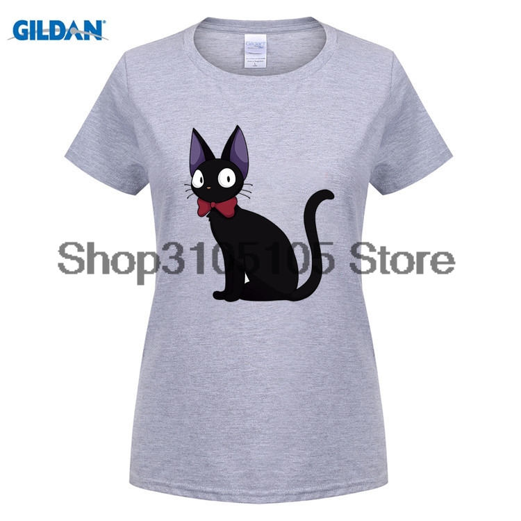 GILDANwomen fashion t shirt Normal Jiji Kiki Delivery Service Girl tshirt 2015 Classic Short Sleeve Organic Cotton Girl t-shirts
