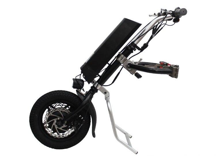 Livraison Gratuite L'UE en FRANCHISE 36 v 250 w Électrique Vélo À Main Pliage Fauteuil Roulant Attachement Main Cycle Vélo En Fauteuil Roulant Conversion Kits
