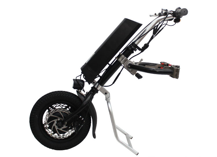 UE DUTY FREE Conhismotor 36 v 250 w Elettrico Handcycle Pieghevole Sedia A Rotelle di Fissaggio A Mano Sedia A Rotelle Della Bici Della Bici Kit di Conversione