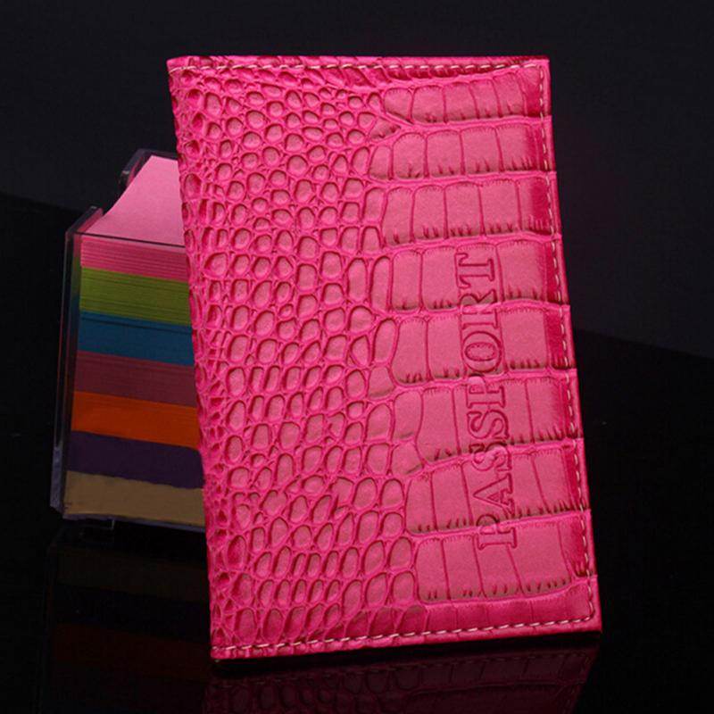 Passport Holder Protector Business Card Holder Passport Cover PU Leather Alligator Embossing Passport Holder Protector Wallet