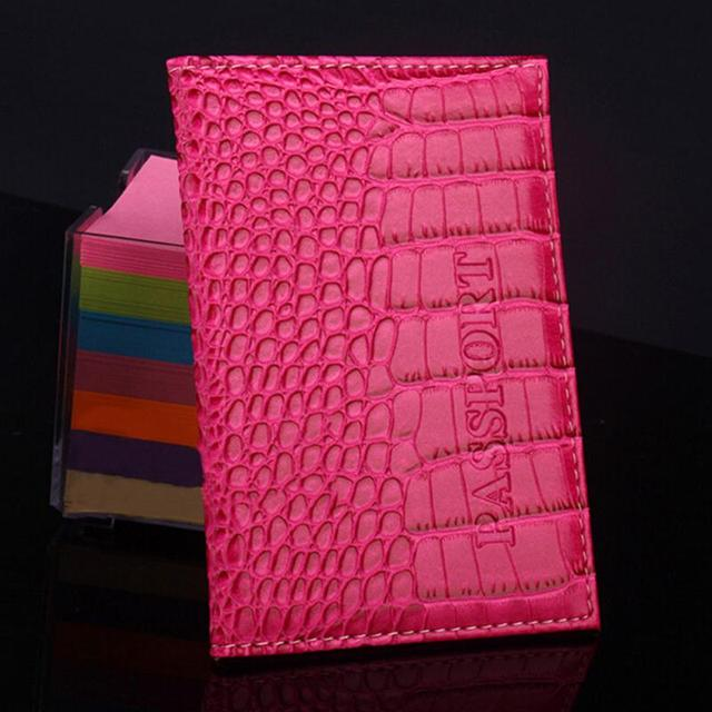 Passport Holder Protector Business Card Holder Passport Cover PU Leather  Alligator Embossing Passport Holder Protector Wallet 4ebdf1051d14