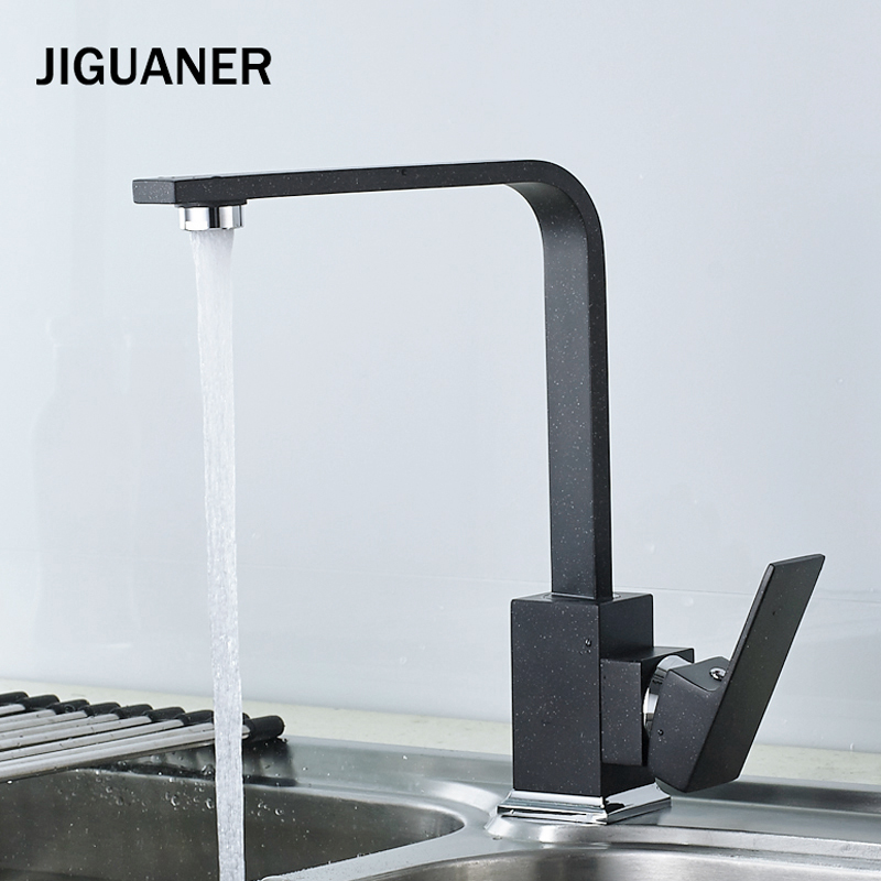 Kitchen Faucet Quartz Stone Brass Body 360 Degree Rotation Vessel Sink Basin hole Basin faucet Hot  Cold Water Mixer Tap Blak levett caesar prostate massager for 360 degree rotation g spot