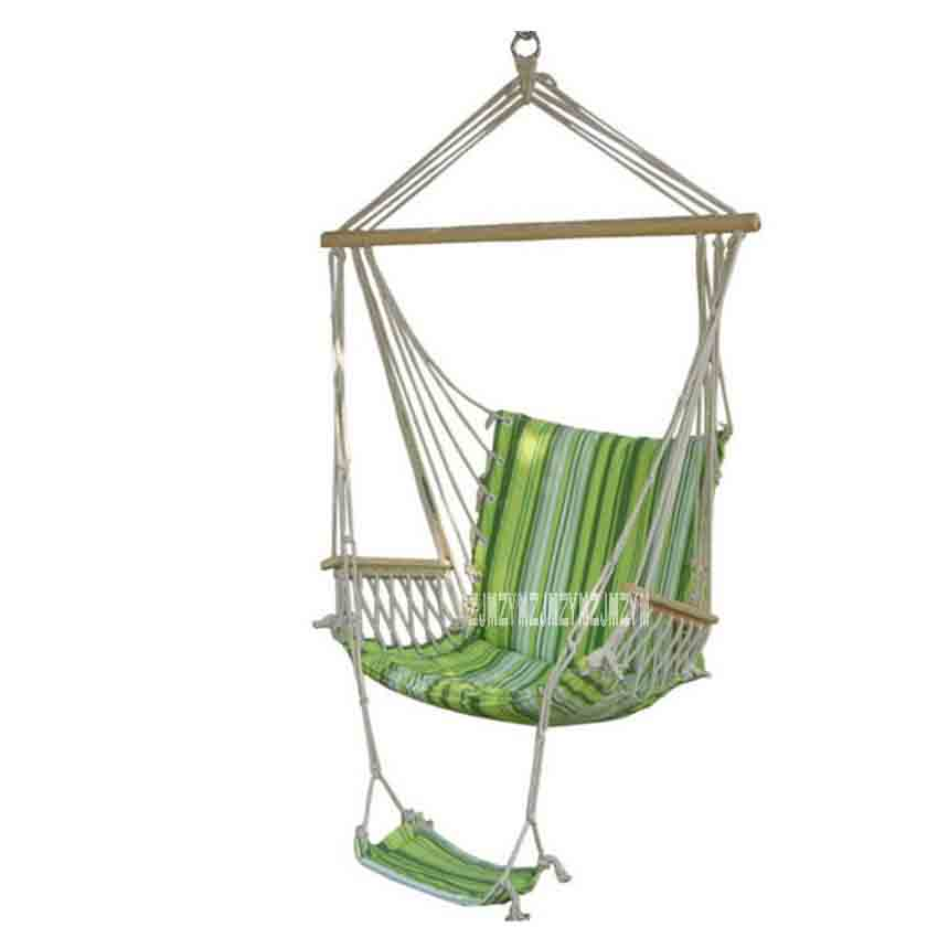 Sunny Hgho-white Cotton Rope Swing Hammock Hanging On The Porch Or On A Beach Factory Direct Selling Price Hammocks