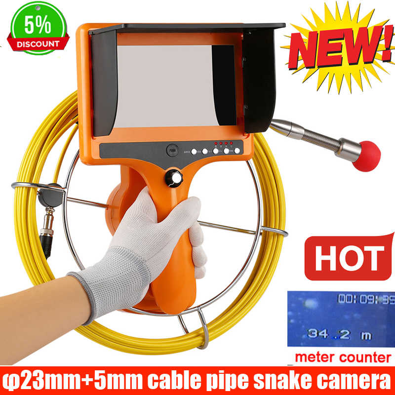 40M meter counter Drain Endoscope Pipe Inspection Camera Pipe Sewer Camera Waterproof Pipe Plumbing Camera 12Pcs LED Nightvision